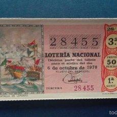 Lotería Nacional: DECIMO DE LOTERIA DE 1970 SORTEO 28. Lote 56975789