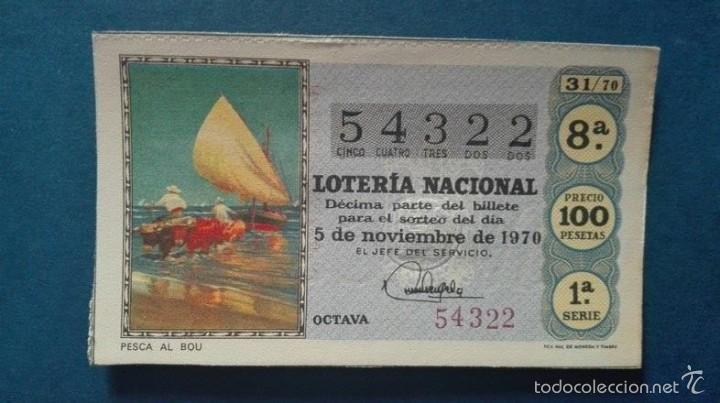 DECIMO DE LOTERIA DE 1970 SORTEO 31 (Coleccionismo - Lotería Nacional)