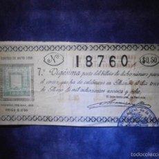 Lotería Nacional: REAL LOTERIA NACIONAL DE FILIPINAS ESPAÑOLAS - AÑO 1898 -SORTEO DEL 13 DE MAYO - 18760. Lote 57348935