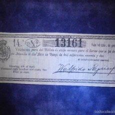 Lotería Nacional: REAL LOTERIA NACIONAL DE FILIPINAS ESPAÑOLAS - AÑO 1892 -SORTEO DEL 6 DE ABRIL - 13161. Lote 57350062