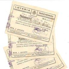 Lotería Nacional: XÁTIVA (VALENCIA) - LOTE 4 PARTICIPACIONES DE LOTERÍA DEL SMO. CRISTO DE LA FE AÑO 1934 . Lote 57374912