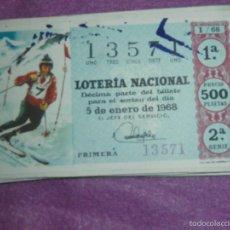 Lotería Nacional: LOTERÍA NACIONAL DE ESPAÑA - AÑO 1968 CASI COMPLETO - 24 SORTEOS DE 36 - BUEN ESTADO GENERAL -. Lote 57566111