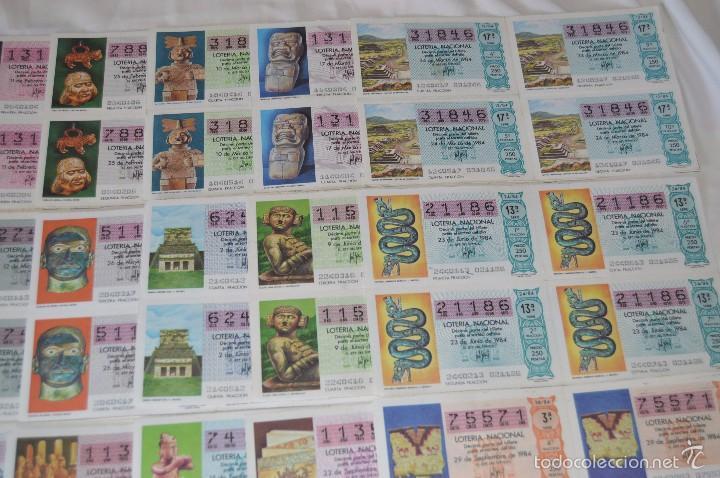 Lotería Nacional: 280 DÉCIMOS, AÑO 1984 - De Enero/Diciembre - 35 Fechas /DÉCIMOS diferentes - ¡Mira fotos y detalles! - Foto 3 - 225058220
