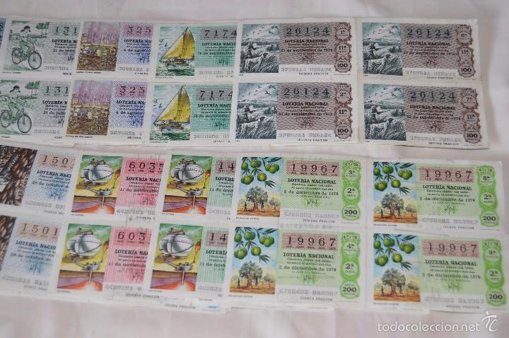 Lotería Nacional: 96 DÉCIMOS, AÑO 1978 - De Abril a Diciembre - 13 Fechas diferentes - ¡Mira fotos y detalles! - Foto 4 - 57678026