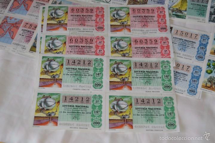 Lotería Nacional: 96 DÉCIMOS, AÑO 1978 - De Abril a Diciembre - 13 Fechas diferentes - ¡Mira fotos y detalles! - Foto 5 - 57678026