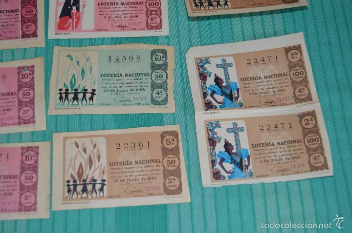 Lotería Nacional: Lote de billetes de lotería nacional - años 60 - Números y años muy variados - Muy antiguo - Foto 4 - 57971237