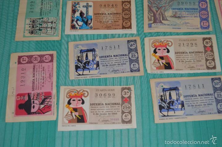 Lotería Nacional: Lote de billetes de lotería nacional - años 60 - Números y años muy variados - Muy antiguo - Foto 6 - 57971237