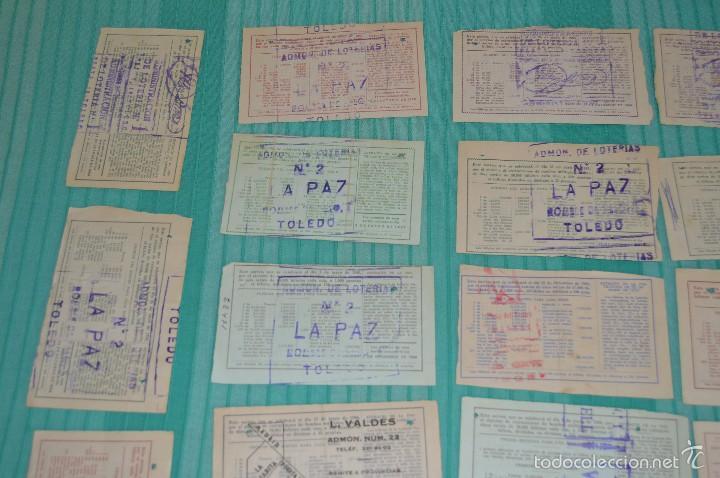 Lotería Nacional: Lote de billetes de lotería nacional - años 60 - Números y años muy variados - Muy antiguo - Foto 8 - 57971237
