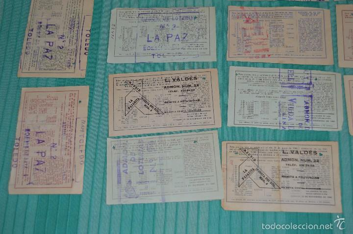 Lotería Nacional: Lote de billetes de lotería nacional - años 60 - Números y años muy variados - Muy antiguo - Foto 9 - 57971237