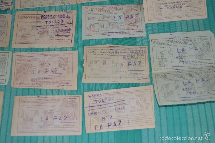 Lotería Nacional: Lote de billetes de lotería nacional - años 60 - Números y años muy variados - Muy antiguo - Foto 10 - 57971237