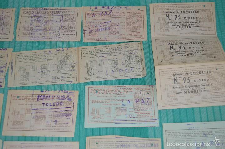 Lotería Nacional: Lote de billetes de lotería nacional - años 60 - Números y años muy variados - Muy antiguo - Foto 11 - 57971237