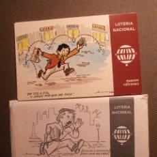 Lotería Nacional: COLECCÍON 12 POSTALES - LOTERIA NACIONAL - DIBUJOS HUMORÍSTICOS E. DE LARA - SERIE K - 1979 - POSTAL. Lote 58442085
