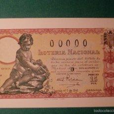 Loterie Nationale: POSTAL LOTERIA NACIONAL.SERIE O.-Nº 1. DECIMOS SORTEO DEL NIÑO. Lote 58456016