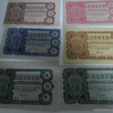 Lotería Nacional: 6 BONITO DECIMOS - LOTERIA NACIONAL - MADRID 25-ABRIL DE 1958 - SORTEO NÚM. 12, UNO DE MANOLITA. Lote 58504474