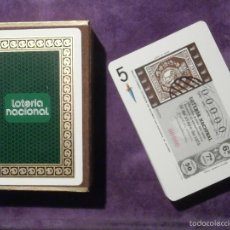 Lotería Nacional: BARAJA DE CARTAS - LOTERIA NACIONAL - FOURNIER - 1975 - ILUSTRADA TEMA LA FILATELIA C / CAJA. Lote 58834751