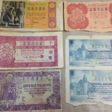 Lotería Nacional: ANTIGUOS BILLETES LOTERIA NACIONAL. Lote 61097947