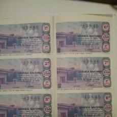 Lotería Nacional: SEIS DECIMOS LOTERIA NACIONAL SORTEO 5 DE ENERO DE 1965. Lote 62094904