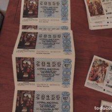 Lotería Nacional: LOTE DE LOTERIA NACIONAL. Lote 62625960
