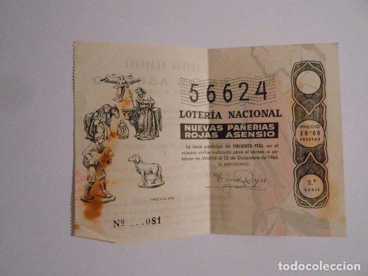 Lotería Nacional: PARTICIPACION EN LOTERIA NACIONAL DE NAVIDAD. NUEVAS PAÑERIAS ROJAS ASENSIO LOGROÑO 1964. TDKP8 - Foto 2 - 62734216