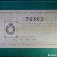 Lotería Nacional: LOTERIA NACIONAL DE ESPAÑA - SORTEO Nº 4 DE 1928 - 1 DE FEBRERO - 36303 -. Lote 65015631