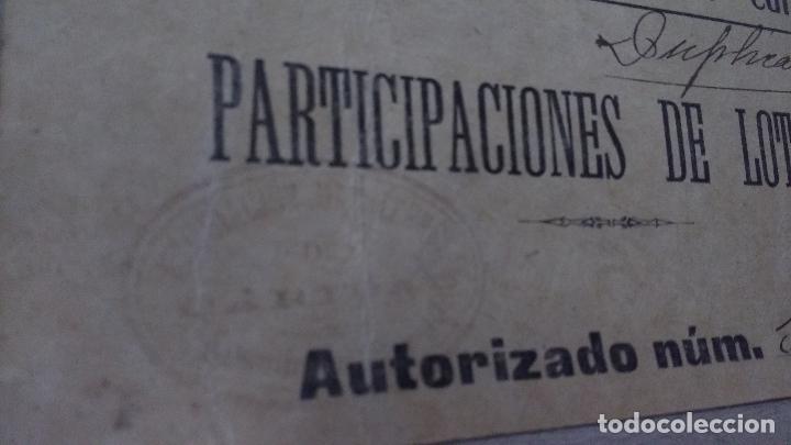 Lotería Nacional: MADRID, ASOCIACION MATRITENSE DE CARIDAD, AUTORIZACION PARA VENTA DE PARTICIPACIONES DE LOTERIA,1900 - Foto 2 - 66157794