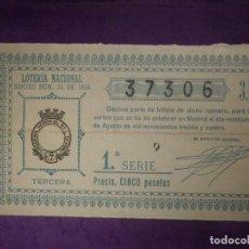 Loterie Nationale: LOTERIA NACIONAL DE ESPAÑA - SORTEO Nº 24 DE 1934 - 21 DE AGOSTO - 37306. Lote 66804914
