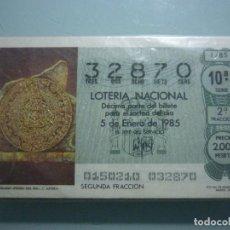 Lotería Nacional: AÑO 1985 COMPLETO . Lote 67648961