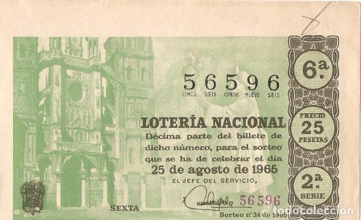 DECIMO LOTERIA NACIONAL AÑO 1965 SORTEO Nº 24 (Coleccionismo - Lotería Nacional)