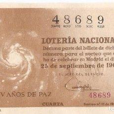 Lotería Nacional: DECIMO LOTERIA NACIONAL AÑO 1964 SORTEO Nº 27. Lote 67692589