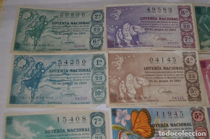 Lotería Nacional: LOTE DE 17 DECIMOS DE LOTERIA NACIONAL - AÑO 1964 - VARIADOS Y TODOS DIFERENTES - Foto 2 - 68723921
