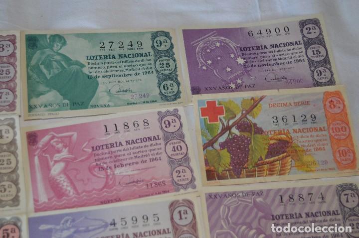 Lotería Nacional: LOTE DE 17 DECIMOS DE LOTERIA NACIONAL - AÑO 1964 - VARIADOS Y TODOS DIFERENTES - Foto 3 - 68723921