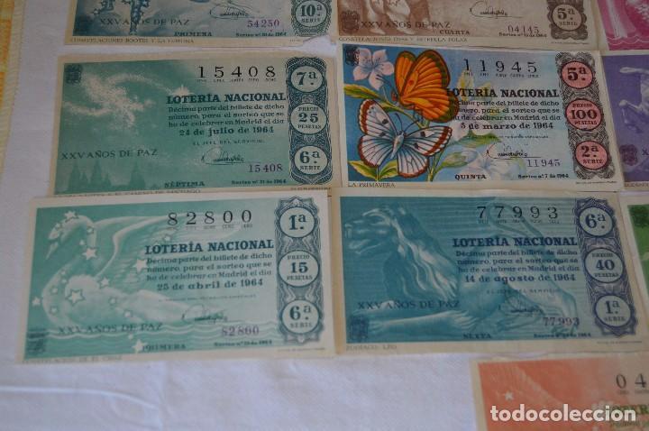 Lotería Nacional: LOTE DE 17 DECIMOS DE LOTERIA NACIONAL - AÑO 1964 - VARIADOS Y TODOS DIFERENTES - Foto 4 - 68723921