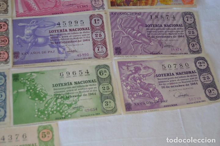 Lotería Nacional: LOTE DE 17 DECIMOS DE LOTERIA NACIONAL - AÑO 1964 - VARIADOS Y TODOS DIFERENTES - Foto 5 - 68723921