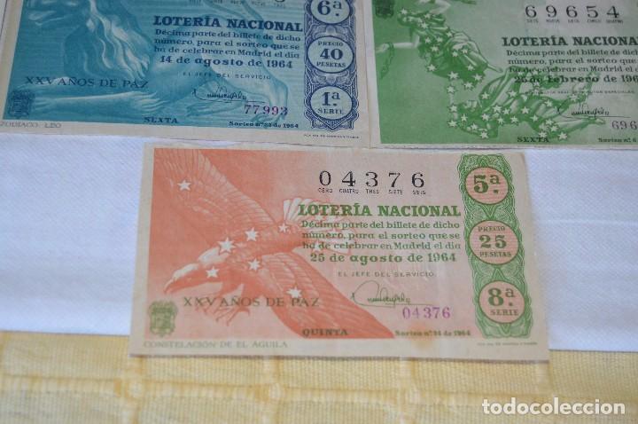 Lotería Nacional: LOTE DE 17 DECIMOS DE LOTERIA NACIONAL - AÑO 1964 - VARIADOS Y TODOS DIFERENTES - Foto 6 - 68723921