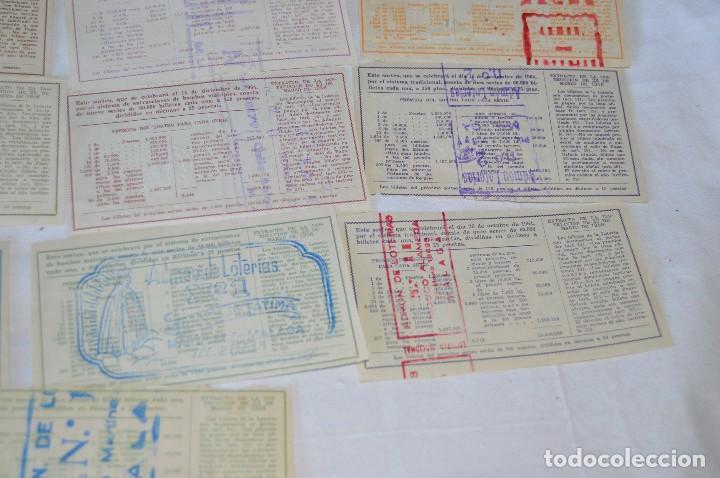 Lotería Nacional: LOTE DE 17 DECIMOS DE LOTERIA NACIONAL - AÑO 1964 - VARIADOS Y TODOS DIFERENTES - Foto 10 - 68723921