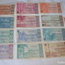 Lotería Nacional: LOTE DE 13 DECIMOS DE LOTERIA NACIONAL - AÑO 1965 - VARIADOS Y TODOS DIFERENTES. Lote 68724493