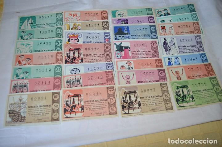 LOTE DE 29 DECIMOS DE LOTERIA NACIONAL - AÑO 1966 - VARIADOS Y TODOS DIFERENTES (Coleccionismo - Lotería Nacional)