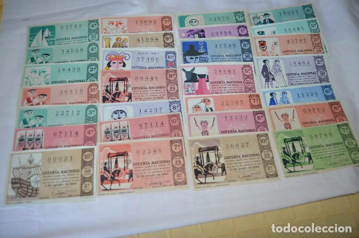 Lotería Nacional: LOTE DE 29 DECIMOS DE LOTERIA NACIONAL - AÑO 1966 - VARIADOS Y TODOS DIFERENTES - Foto 2 - 68725765