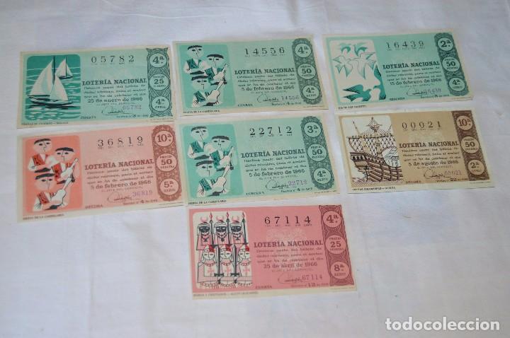 Lotería Nacional: LOTE DE 29 DECIMOS DE LOTERIA NACIONAL - AÑO 1966 - VARIADOS Y TODOS DIFERENTES - Foto 3 - 68725765