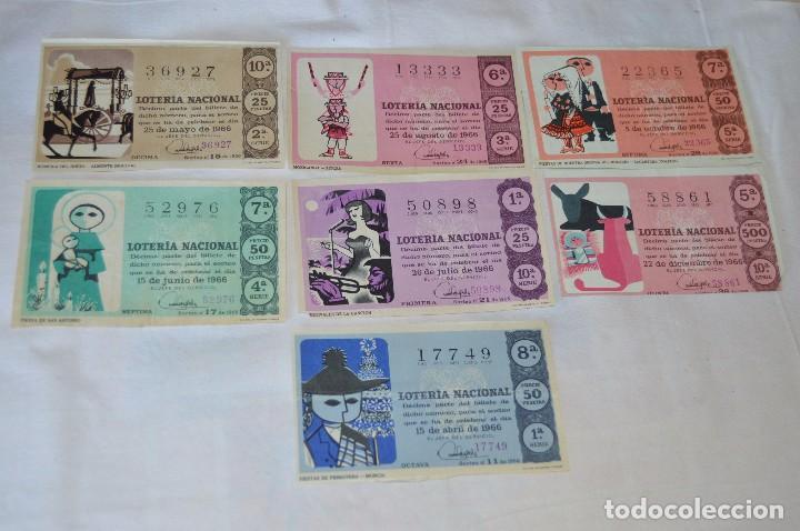 Lotería Nacional: LOTE DE 29 DECIMOS DE LOTERIA NACIONAL - AÑO 1966 - VARIADOS Y TODOS DIFERENTES - Foto 5 - 68725765