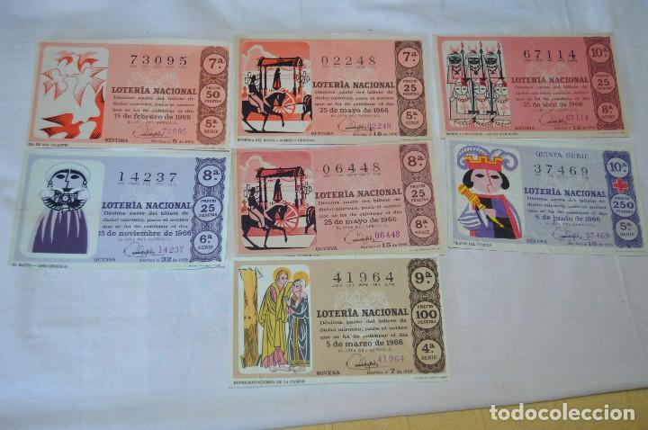 Lotería Nacional: LOTE DE 29 DECIMOS DE LOTERIA NACIONAL - AÑO 1966 - VARIADOS Y TODOS DIFERENTES - Foto 7 - 68725765