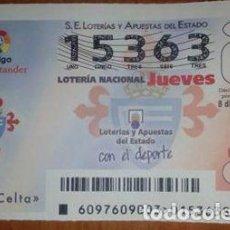 Lotería Nacional: LOTERIA NACIONAL, SORTEO CELTA DE VIGO. Lote 69318573