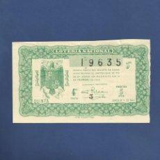 Lotería Nacional: DECIMO DE LOTERIA DE 1946 SORTEO 5. Lote 69389925