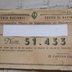 Lotería Nacional: SORTEO NAVIDAD 1955 . Lote 69750509