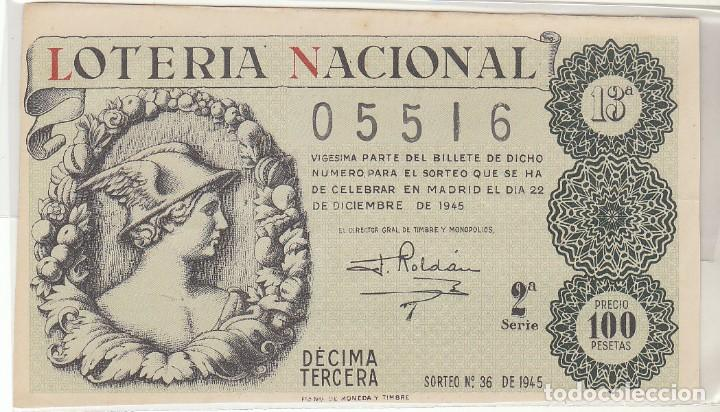 DÉCIMO SORTEO : 22 DICIEMBRE 1945. (Coleccionismo - Lotería Nacional)