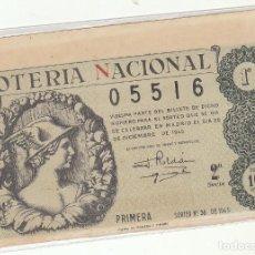 Lotería Nacional: DÉCIMO SORTEO : 22 DICIEMBRE 1945.. Lote 70133517