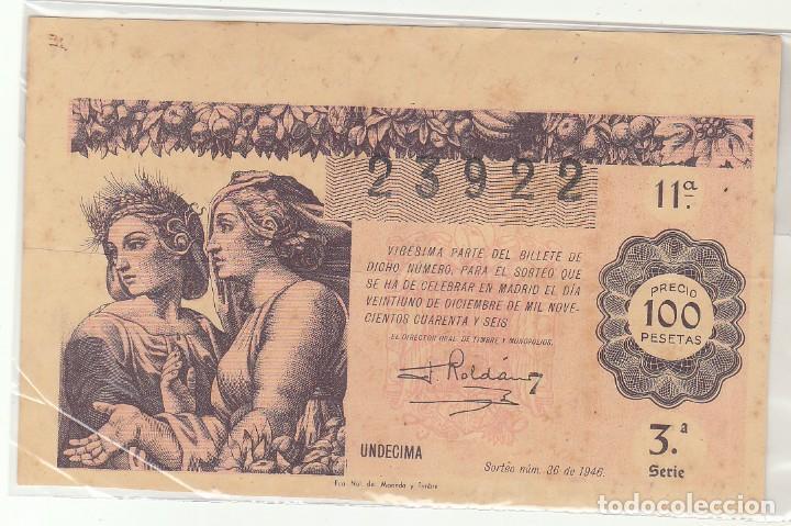 DÉCIMO SORTEO : 21 DICIEMBRE 1946. (Coleccionismo - Lotería Nacional)