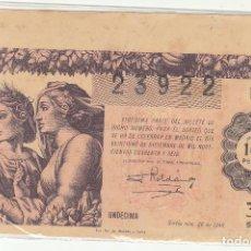 Lotería Nacional: DÉCIMO SORTEO : 21 DICIEMBRE 1946.. Lote 70134089