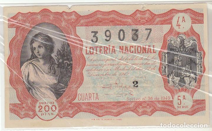 DÉCIMO SORTEO : 22 DICIEMBRE 1949. (Coleccionismo - Lotería Nacional)
