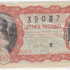Lotería Nacional: DÉCIMO SORTEO : 22 DICIEMBRE 1949.. Lote 70134169